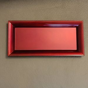 💚5/$20💚 Red Laquer Rectangular Display Charger